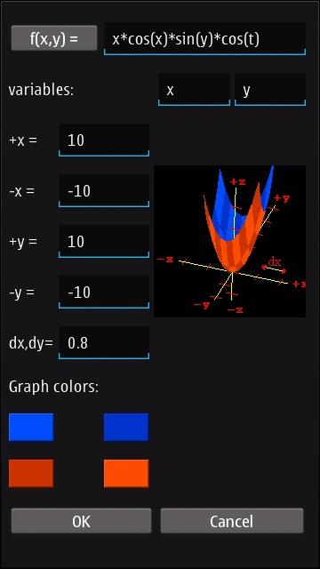 Screenshot, MathGraphica3D
