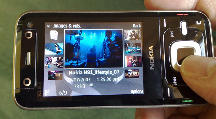 Nokia N81 pt 1 - The hardware, the naviwheel, the carousel review ...