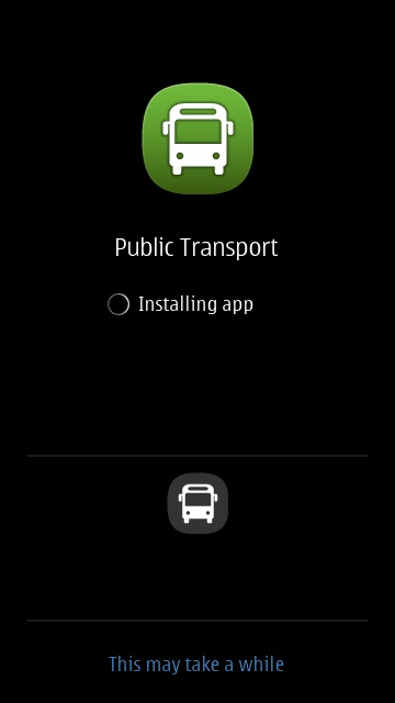 Screenshot, Public Transport install