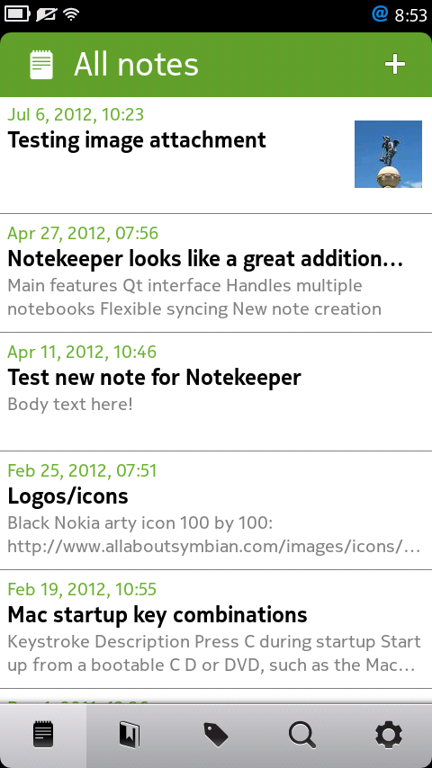 Screenshot, Notekeeper