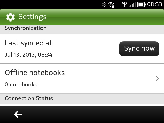 Notekeeper screenshot