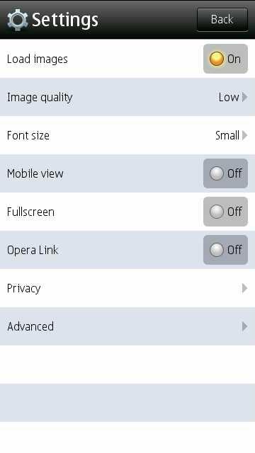 Opera Mini (native) screenshot