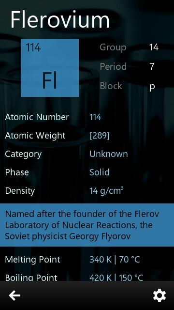 Screenshot, Periodic Table