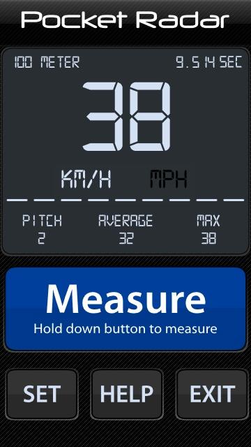 Screenshot, Pocket Radar