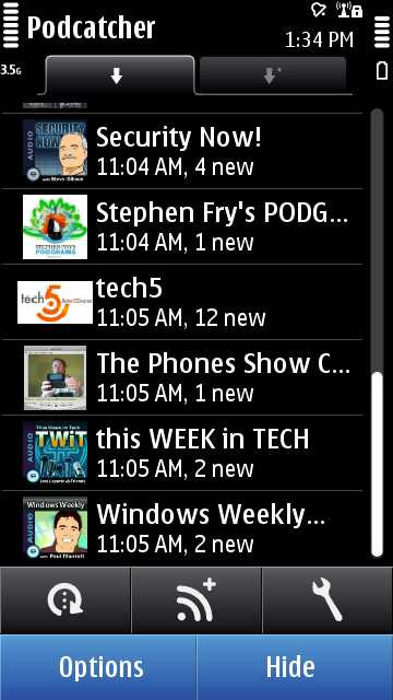 Screenshot Podcatcher 1.0.8