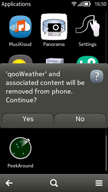 Screenshot, qooWeather