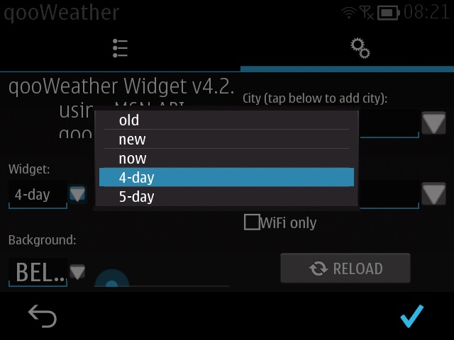 Screenshot, qooWeather