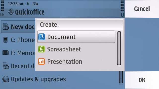 Quickoffice 6 screenshot
