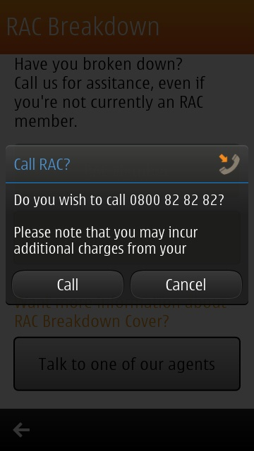 Screenshot, RAC Traffic