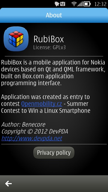 Screenshot, RubiBox