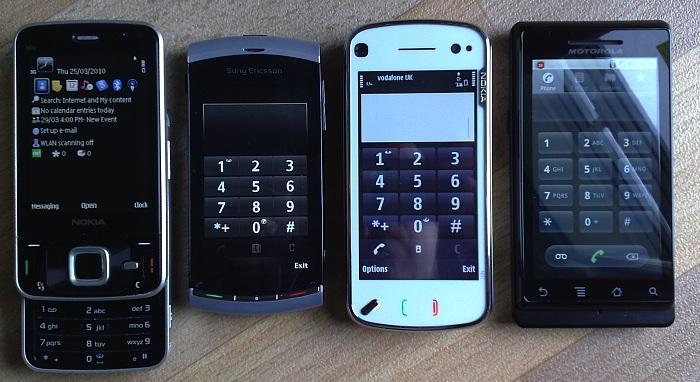 N96, Vivaz, N97, Milestone