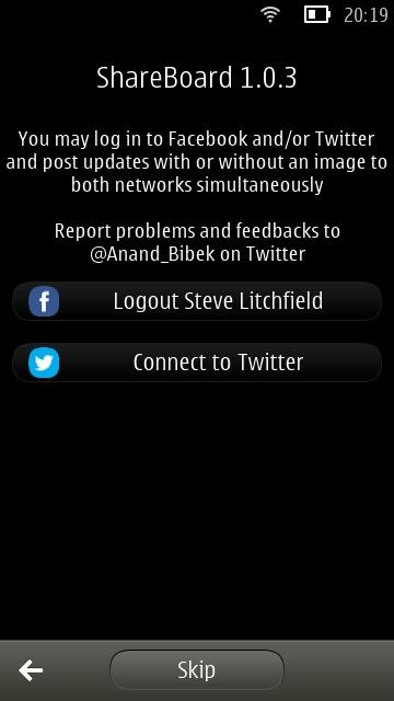 ShareBoard screenshot