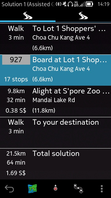 Singapore Bus screenshot