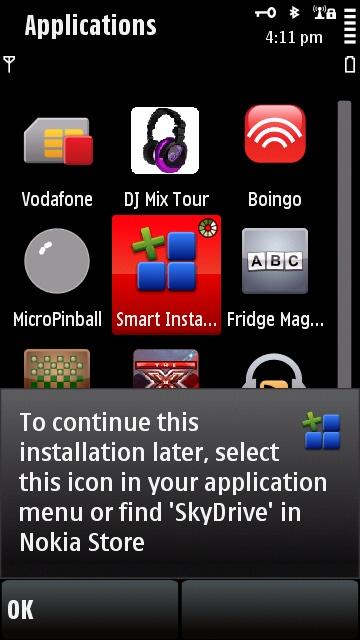 Screenshot, SkyDrive uploader
