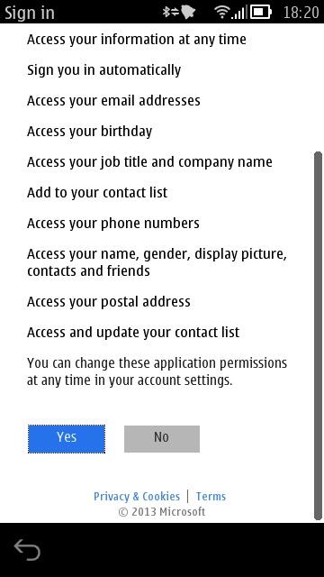 Screenshot, SkyDrive update