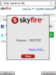 Skyfire 1.0 screenshot