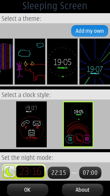Screenshot, Nokia Sleeping Screen tutorial