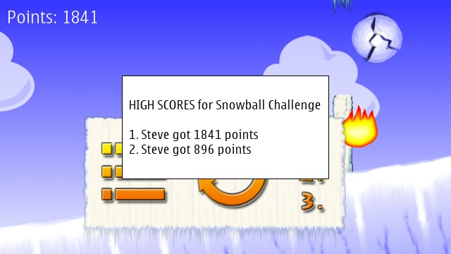 Screenshot, Snowball Challenge