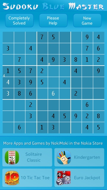Sudoku Master screenshot
