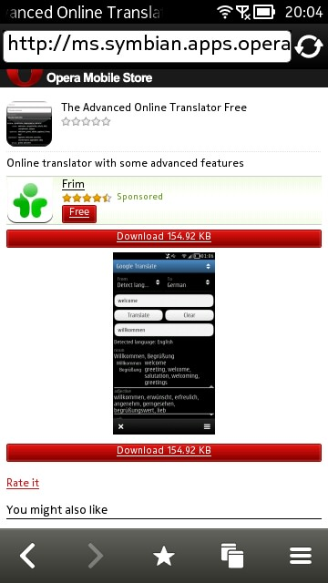 Screenshot, The Advanced Online Translator