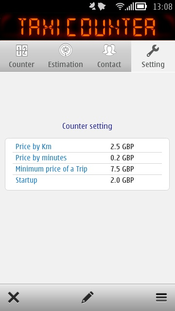 Screenshot, TaxiCounter