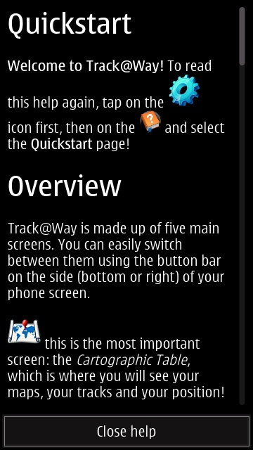 Screenshot, Track@Way