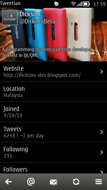 Tweetian screenshot