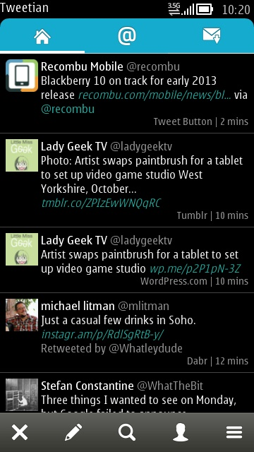 Screenshot, Tweetian 1.6 install