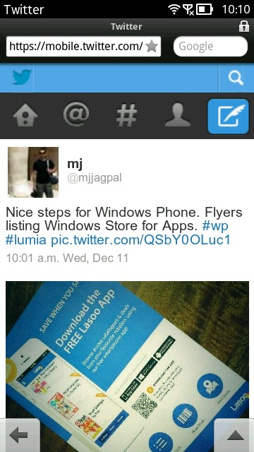 Screenshot, Twitter mobile