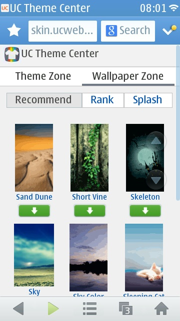 Screenshot, UC Browser 8.8 walkthrough