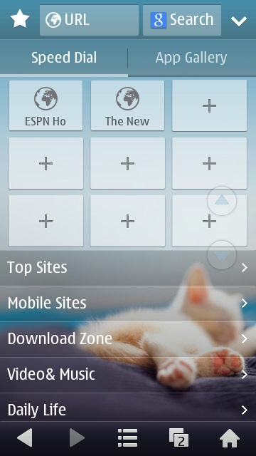 Screenshot, UC Browser 8.8 walkthrough