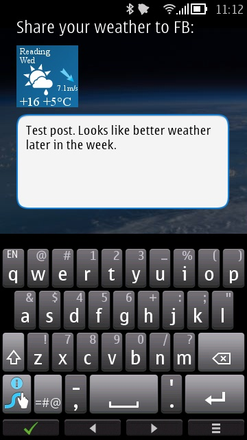Screenshot, WeatherTalk