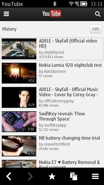 Screenshot, YouTube