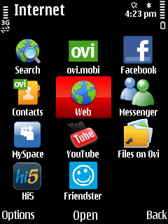 Nokia 5730 screenshot