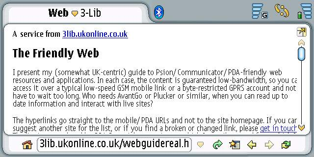 The Nokia 7710 Web Browser