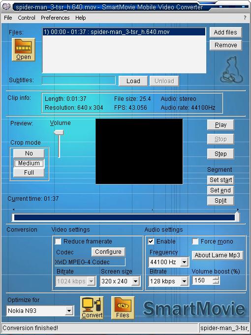 У нас можно скачать полную версию программы SmartMovie Mobile Video C