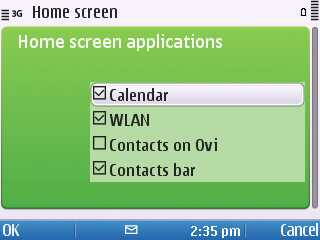 Screenshot from Nokia E5