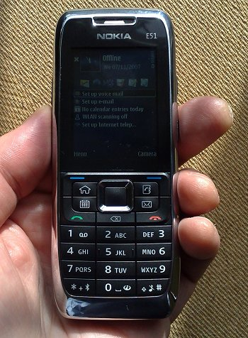 The shiny, shiny Nokia E51