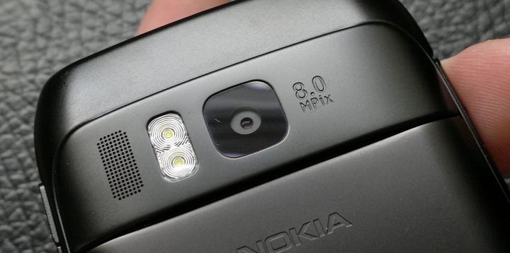 Flush camera glass