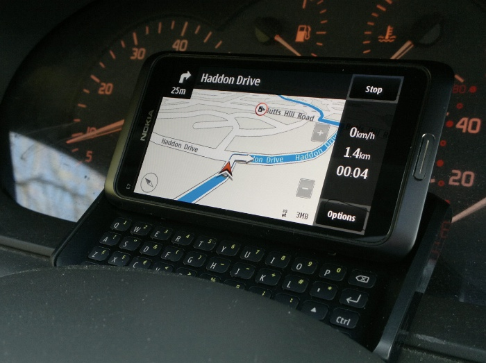 E7 as Sat nav