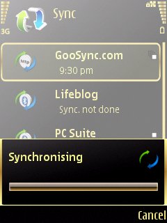 GooSync screenshot