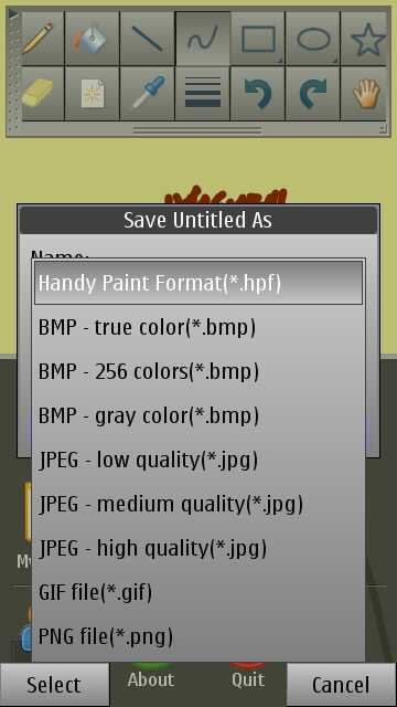 Screenshot, HandyPaint