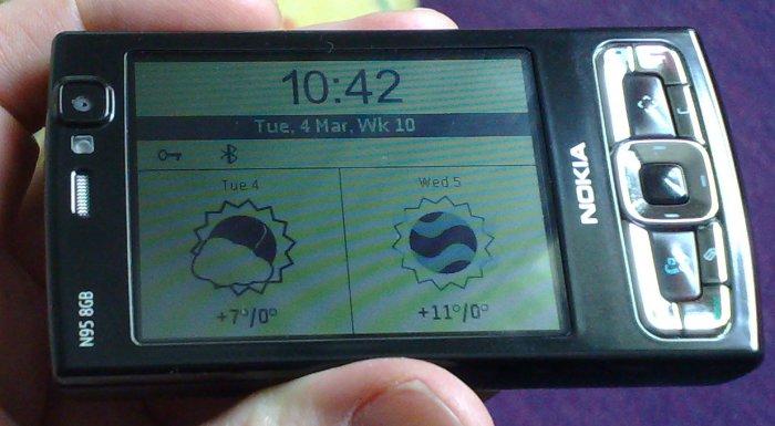 Handy Weather screensaver