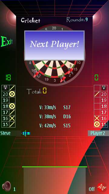 Screenshot, Mobile Darts