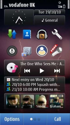 Homescreen, Symbian^3