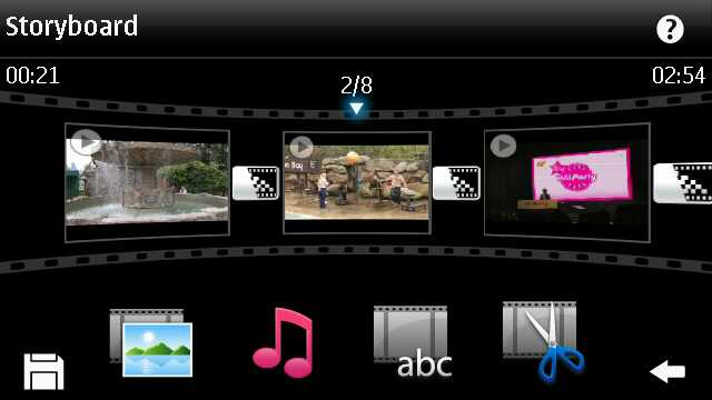 Editing a 'movie' on the N8