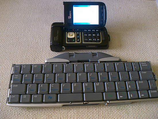 With Bluetooth keyboard