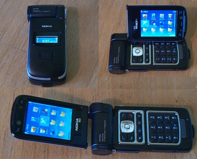 Nokia N93 in various modes