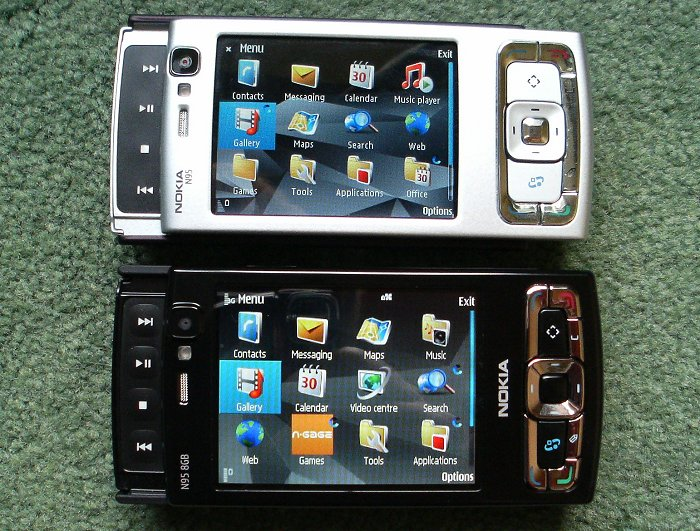Nokia N95 and N95 8GB