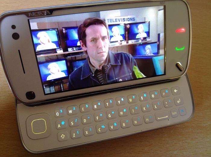N97 playing back iPlayer programme